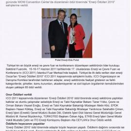 Polat Enerji'ye En Çevreci Yatırımcı Ödülü